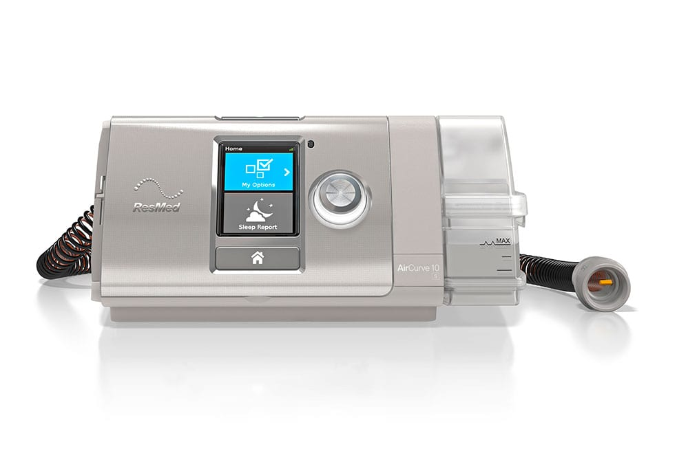ResMed AirCurve™ 10 S (Set Pressure) BiLevel / BiPAP Machine with HumidAir™ Heated Humidifier