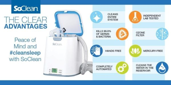 SoClean 2 CPAP Cleaner and Sanitizer with Cartridge, Valve, & Adapter